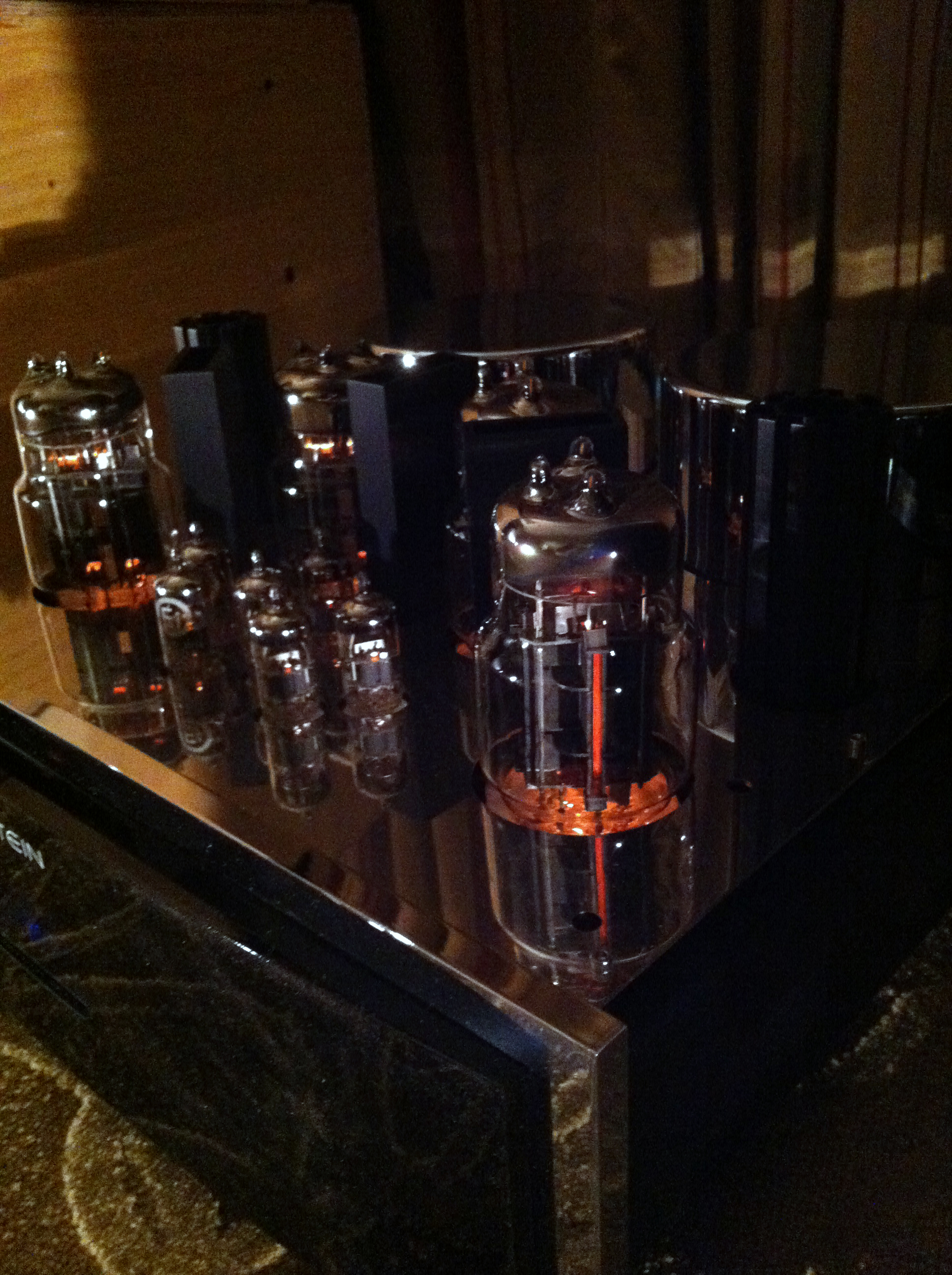 Vacuum tubes on a home theater amp